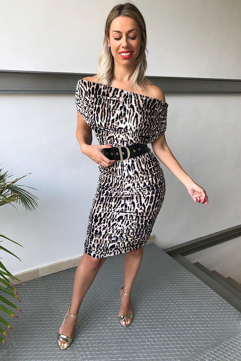 Vestido Terciopelo Animal Print
