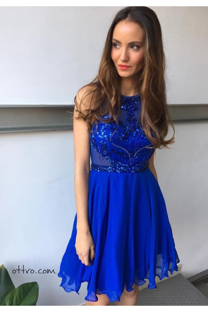 Azul vestidos